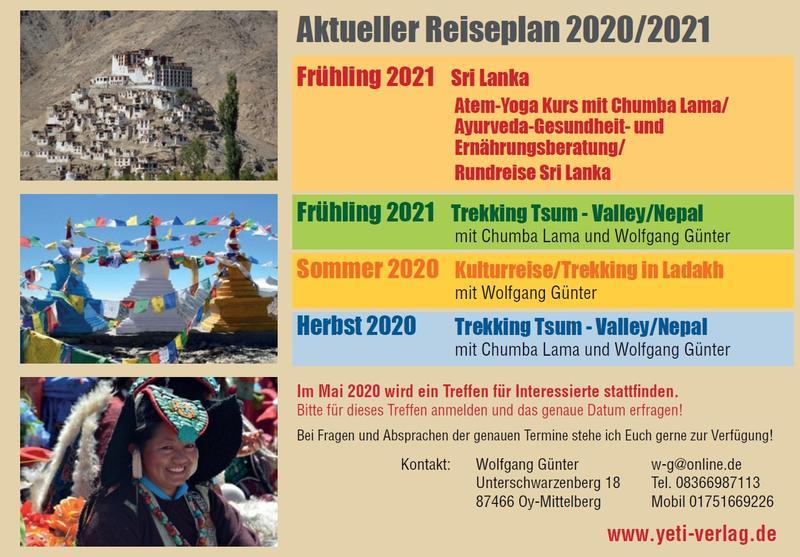 Reiseplan 2020/2021